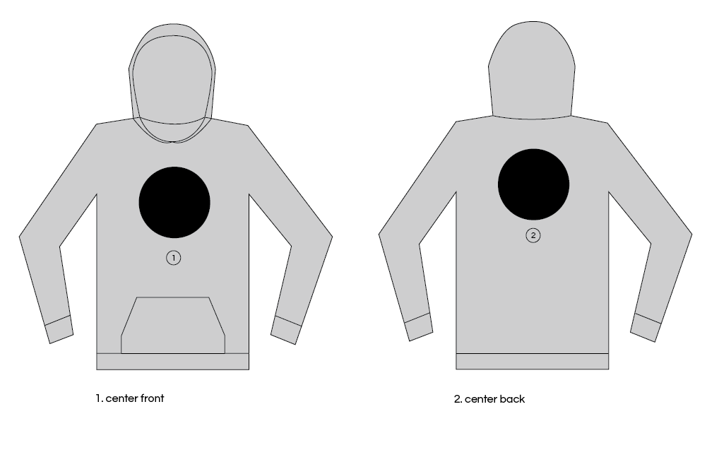 Extra Large Custom Patch Hoodie Placements