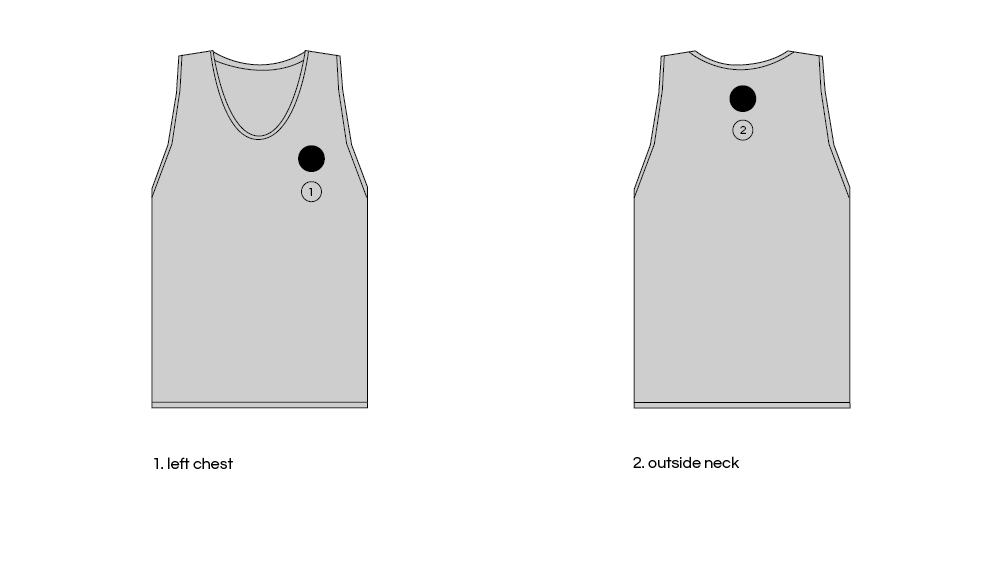 Embroidered Patch Placement On Tank Tops