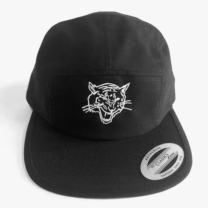 5 Panel Hat With Tiger Embroidery a73459af1ae