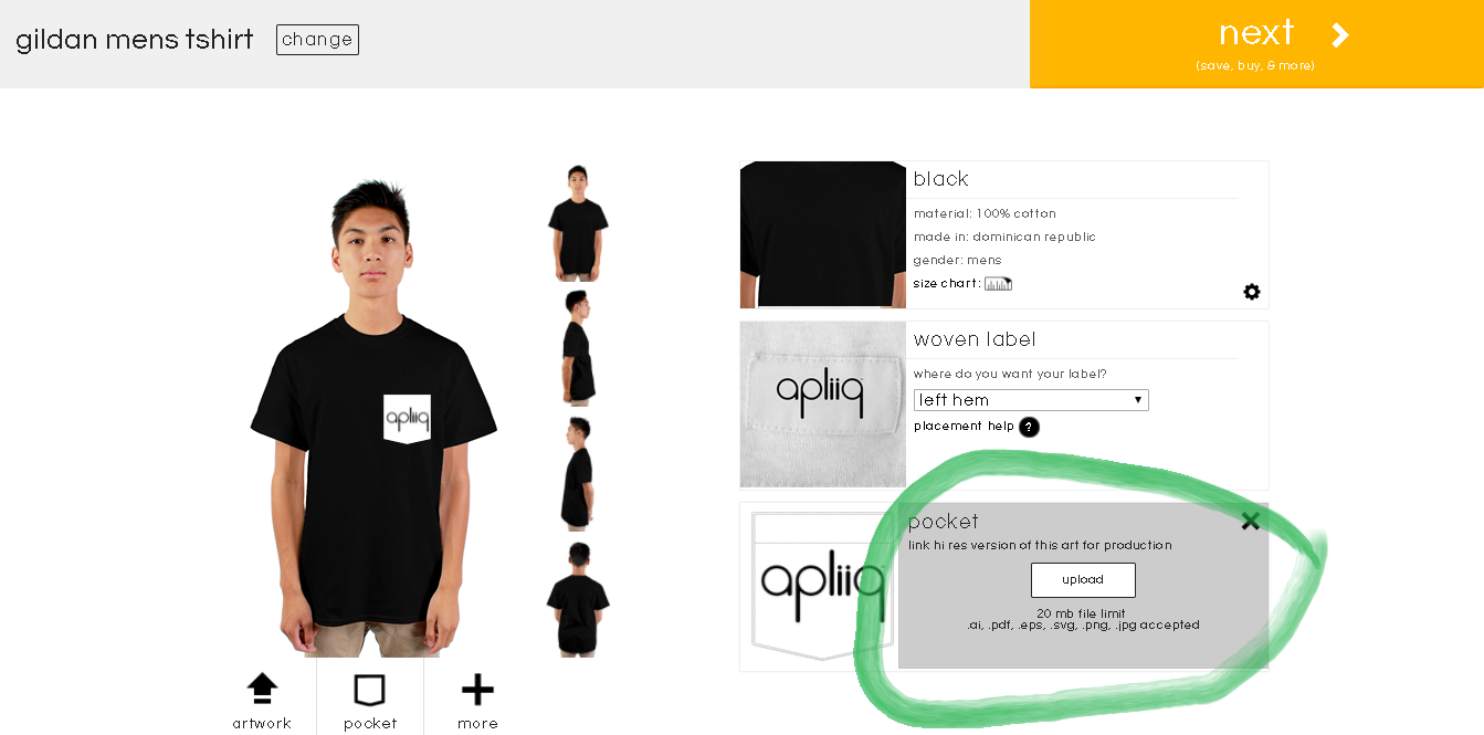 how to link artwork to custom t shirts