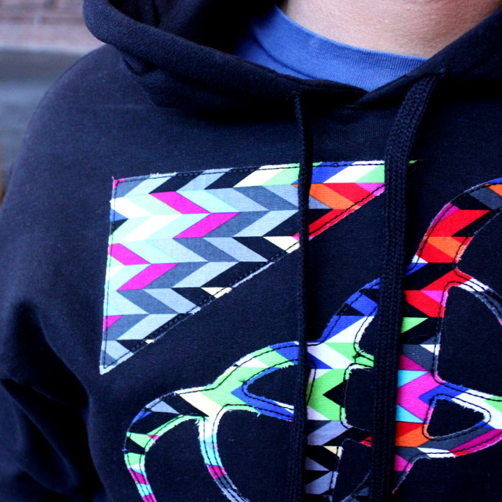 applique hoodie detail example